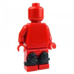 Lego Custom Accessoires Minifig BRICK WARRIORS Genouillères (noir) (La Petite Brique)