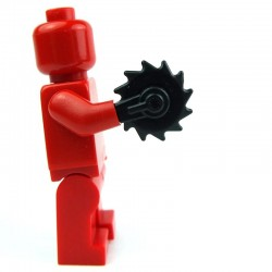 Lego Custom Accessoires Minifig BRICK WARRIORS Buzzsaw Hand (noir) (La Petite Brique)