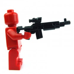 Lego Custom Accessoires Minifig BRICK WARRIORS Enhanced Warrior Rifle (noir) (La Petite Brique)