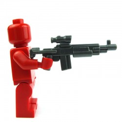 Lego Custom Accessoires Minifig BRICK WARRIORS Enhanced Warrior Rifle (steel) (La Petite Brique)