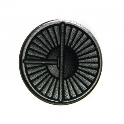 Lego Accessoires Minifig Tile rond 2 x 2, Réacteur (noir, impression Silver) (La Petite Brique)