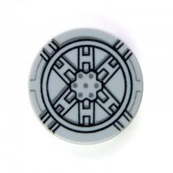 Lego Accessoires Minifig Tile Rond 2 x 2, Star Wars Tie Fighter (Light Bluish Gray) (La Petite Brique)