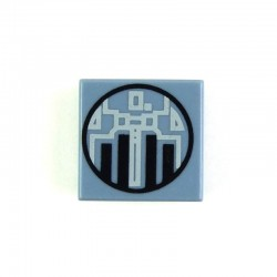 Sand Blue Tile 1 x 1 with Mini TIE Interceptor (Star Wars)