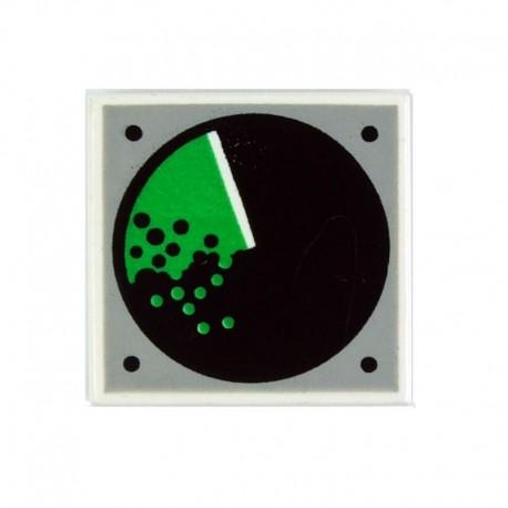 Lego Accessoires Minifig Signal Radar - Tile 2 x 2 (Blanc) (La Petite Brique)