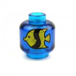 Lego Accessoires Minifig Bocal Poisson (Trans-Dark Blue) (La Petite Brique)