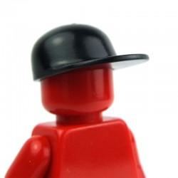 Black Headgear Cap, Long Flat Bill