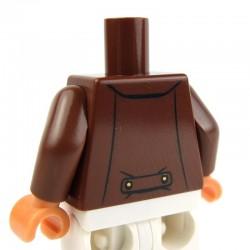 Lego Accessoires Minifig Torse - Veste avec boutons et écharpe (Reddish Brown) (La Petite Brique)