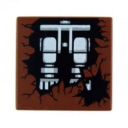 Lego Accessoires Minifig Jambes de Squelette - Tile 2 x 2 (Reddish Brown) (La Petite Brique)