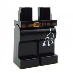 Lego Accessoires Minifig Jambes - trousseau de clés, ceinture marron (Noir) (La Petite Brique)
