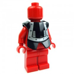 Black Minifig, Armor Breastplate with Leg Protection, Dracus Silver Studs