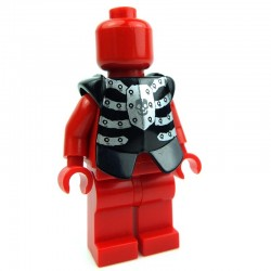 Black Minifig, Armor Breastplate with Leg Protection, Fantasy Era Skeleton