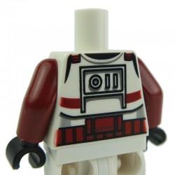 Lego Accessoires Minifig - Torse Star Wars Clone Trooper (Dark Red) (La Petite Brique)