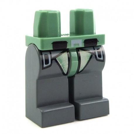Lego Accessoires Minifig Jambes - Kashyyyk Trooper (Star Wars) (Sand Green - Dark Bluish Gray) (La Petite Brique)