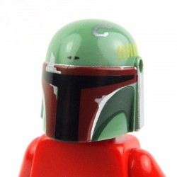 Sand Green Helmet with Holes, SW Mandalorian (Boba Fett) with Dark Brown and Silver