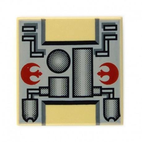 Lego Accessoires Star Wars Rebel Mechanical - Tile 2 x 2 (La Petite Brique)