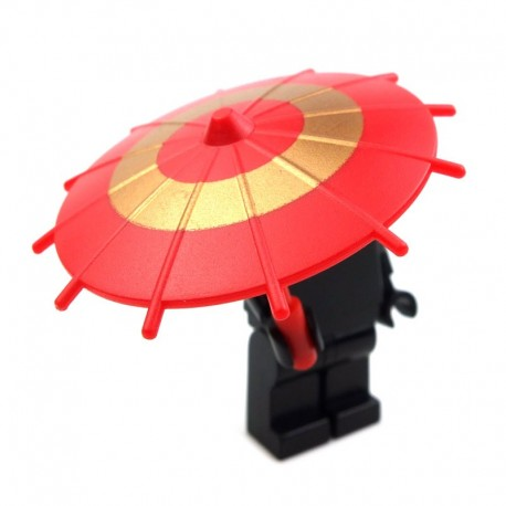 Japanese Umbrella - Red (Gold Circle)