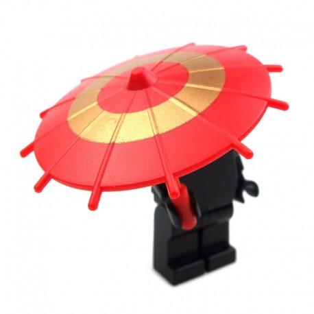 Lego Si-Dan ombrelle japonaise (rouge - doré) (La Petite Brique)
