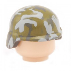 Lego Custom CITIZEN BRICK Minifig Casque Subdued Camo (La Petite Brique)
