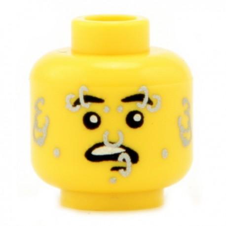 Lego Custom CITIZEN BRICK Minifig Tête Piercing (Jaune) (La Petite Brique)