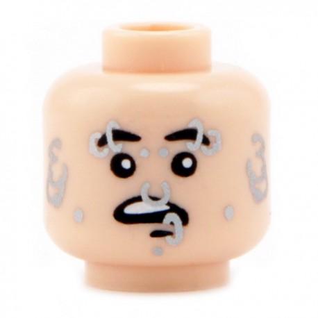 Lego Custom CITIZEN BRICK Minifig Tête Piercing (Light Flesh) (La Petite Brique)