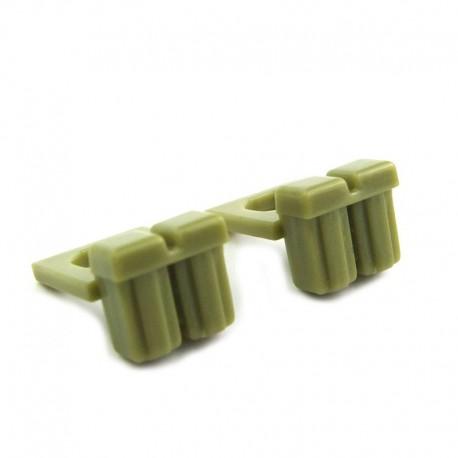 Lego Custom Minifig BRICKFORGE Ammo Pouch (Olive Green) (la paire) (La Petite Brique)