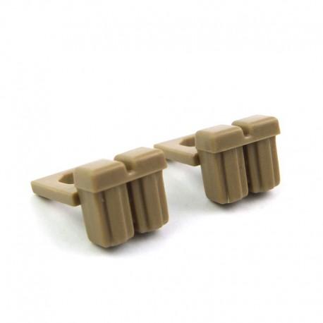 Lego Custom Minifig BRICKFORGE Ammo Pouch (beige foncé) (la paire) La Petite Brique