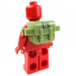 """Lego Custom Minifig BRICKFORGE Sac """"US"""" (vert olive) La Petite Brique"""