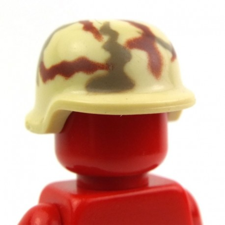 Lego Custom Minifig BRICKFORGE Casque Militaire (Camouflage - Beige) La Petite Brique