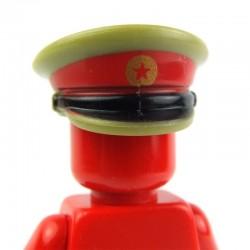 Lego Custom Minifig BRICKFORGE Casquette Officier Russe (etoile Sovietique - vert olive) (La Petite Brique)