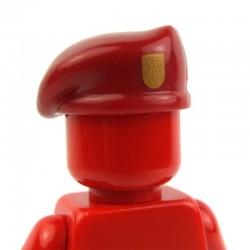 Lego Custom Minifig BRICKFORGE Beret (rouge foncé) avec insigne doré (La Petite Brique)