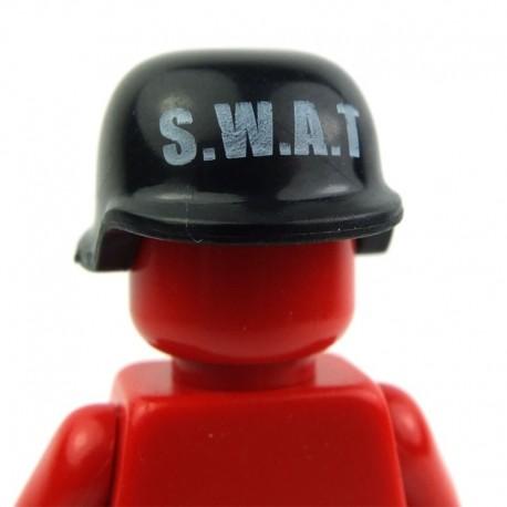 Lego Custom Minifig BRICKFORGE Casque Militaire (SWAT - noir) (La Petite Brique)