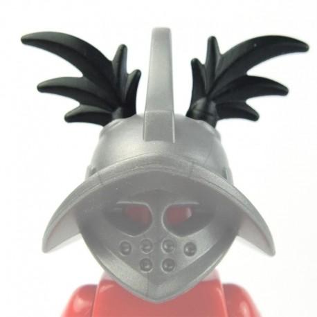 Lego Minifig Accessoires BRICK WARRIORS Plumes Gladiateur (paire - noir) La Petite Brique