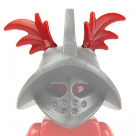 Lego Custom Minifig BRICKWARRIORS Plumes Gladiateur (paire - rouge foncé) (La Petite Brique)