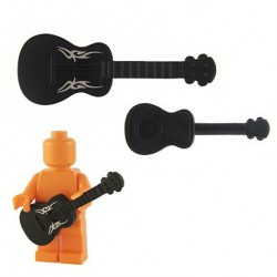 Acoustic Guitar - Black (silver Tribal)