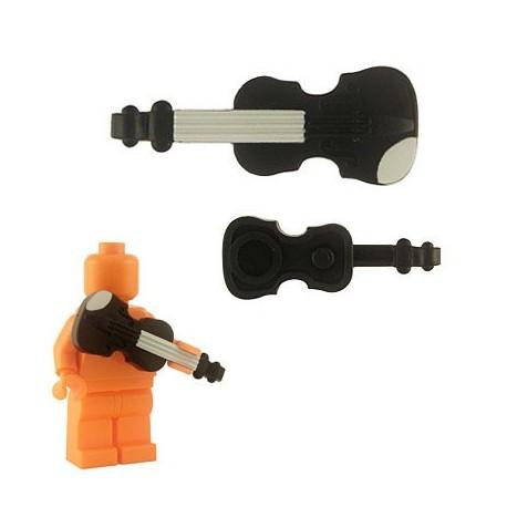 Lego Custom Accessoires Minifig BRICKFORGE Violon (noir) (La Petite Brique)
