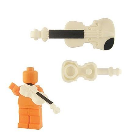 Lego Custom Accessoires Minifig BRICKFORGE Violon (blanc) (La Petite Brique)
