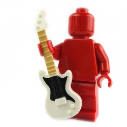 Lego Custom Minifig Accessoires BRICKFORGE Guitare électrique (Blanc - pickguard noir, beige) La Petite Brique