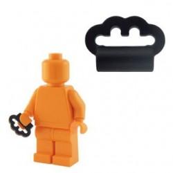 Lego Custom Accessoires Minifig BRICKFORGE Poing Américain (noir) (La Petite Brique)