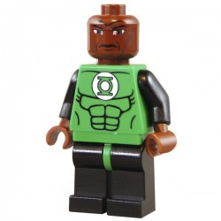 Lego Minifig Custom Bricks Green Lantern John Stewart (La Petite Brique)
