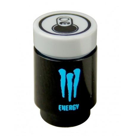 """Lego Minifig Accessoires """"custom BRICKS"""" Canette de Soda, Creature Energy Drink (Bleu) (La Petite Brique)"""