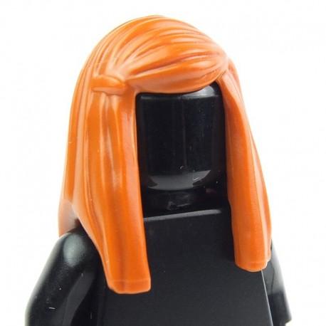 Lego Accessoires Minifig - Cheveux Longs lissés (Dark Orange) (La Petite Brique)