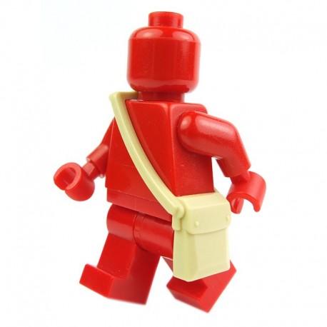 Lego Accessoires Minifig - Sac besace (Beige) (La Petite Brique)
