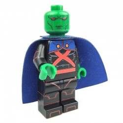 Lego Custom Minifig EclipseGRAFX Mr. Martian Black Suit (Martian Manhunter Black) (La Petite Brique)