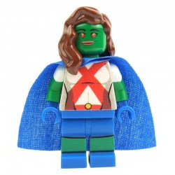Lego Custom Minifig EclipseGRAFX Martian Girl (Ms Martian) (La Petite Brique)