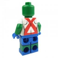 Lego Custom Minifig EclipseGRAFX Martian Girl (Ms Martian) (La Petite Brique)