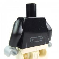 Lego Accessoires Minifig - Torse - Chemise et gilet, noeud papillon (La Petite Brique)