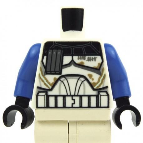 Lego Accessoires Minifig Torse Star Wars Captain Rex Taches, Saleté (Bleu / Blanc) La Petite Brique