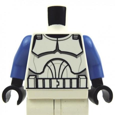 Lego Star Wars Clone Pilot Torso w// Sand Blue Arms