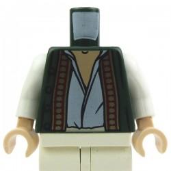 Lego Accessoires Minifig Torse - Gilet et chemise blanche (Dark Green) (La Petite Brique)