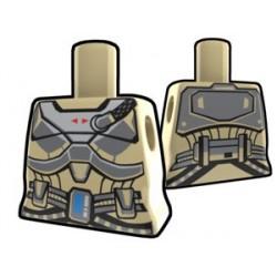 Lego Minifig Custom AREALIGHT Torse féminin Tan Shae's torso (La Petite Brique) Star Wars